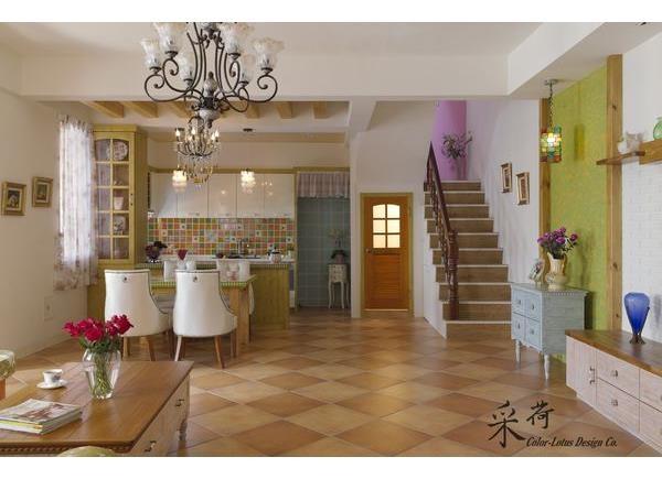 瑰麗寶石色彩的法式鄉村居家